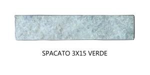 Spacato 3x15 Verde Pieza unitaria