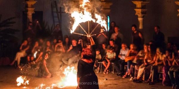 Spettacolo del fuoco a palermo - fuocolesi e terradamare