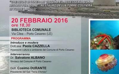 """""""Nuovi itinerari turistici dal virtuale al reale"""": a Porto Cesareo una conferenza per presentare gli interventi realizzati"""