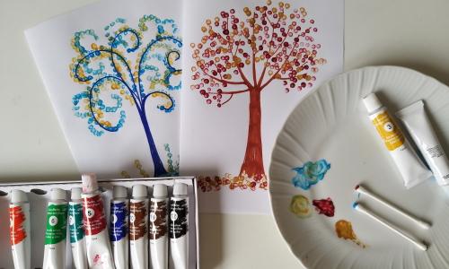 dipingere con i cotton fioc