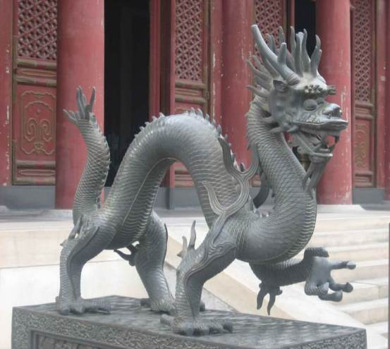 Bronze-Dragon at the Hall of Benevolence and Longevity, Summer Palace.