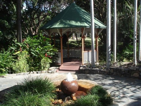 The Palmetum Tokuyama Garden Gazebo tropical Townsville