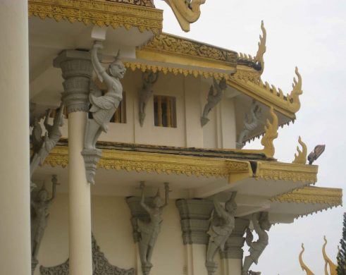 Phnom Penh Royal Palace Complex Throne Hall Decoration under eaves