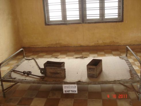 Room used to torture victims Tuol  Sleng  Genocide Museum Phnom Penh