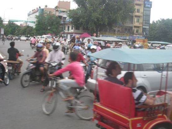 Traffic chaos in Phnom Penh City