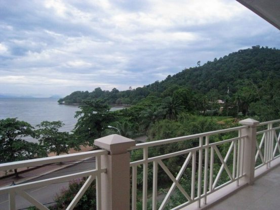 Kep seaside resort,forested headland from Beachhouse seaside hotel