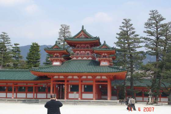 Heian Palace (replica of the old Kyoto Imperial Palace only on a smaller scale)