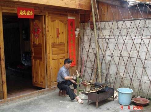 Making-bamboo-dishes