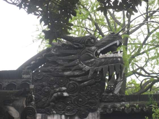Detail Dragon's head  Yu Garden and Bazaar shanghai Old Town