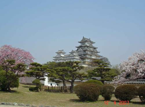 Last view of  magnificent  Himeji castle before we depart for Himeji station