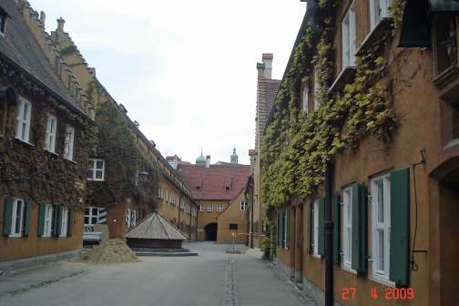 The Fuggerei  social settlement - a very pretty village - Augsburg