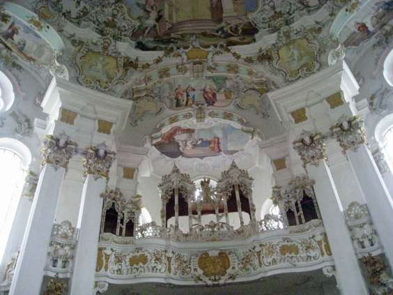 Wieskirche - Organ gallery has room for the organ,a choir and an orchestra