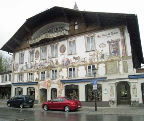 Oberammergau Village - Fairytale fresco
