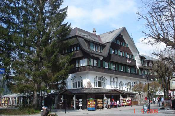 Main street town of Titisee on Lake Titisee - the Black Forest
