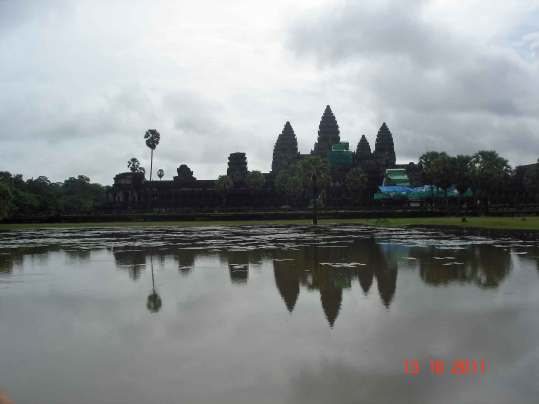 Angkor Wat from outer causeway