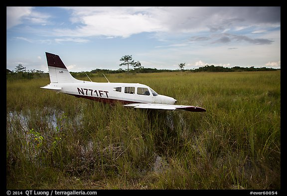 crashed plane in marsh valley everglades national park