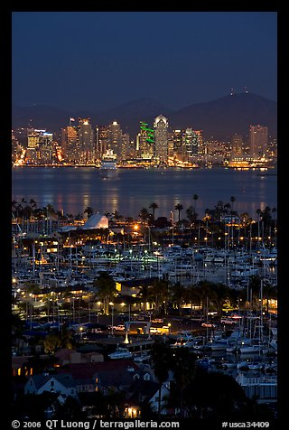 PicturePhoto San Diego Yacht Club And Skyline At Night