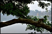 Hoan Kiem (restored sword) lake in the center of the city. Hanoi, Vietnam