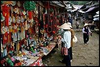 Religious souvenir stand. Perfume Pagoda near Hanoi, Vietnam
