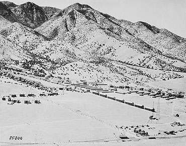 Part of Fort Huachuca and the Huachuca Mountains in 1924.