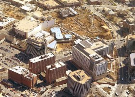 Downtown Silver Spring before 2003 Construction