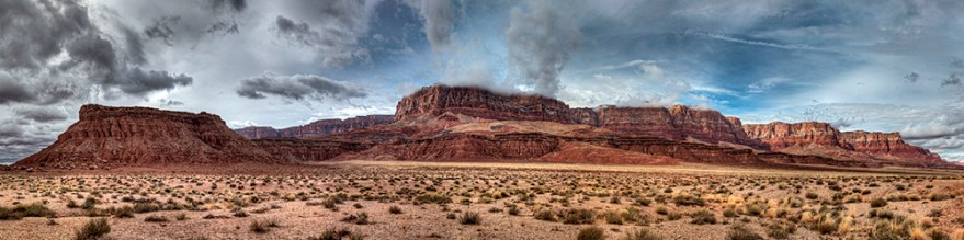 Vermillion Cliffs and Clearing Clouds, Arizona, 2013