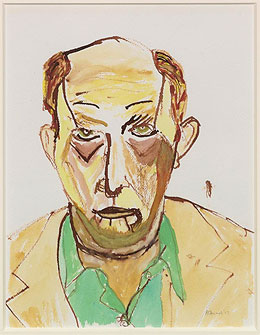 A. R. Ammons self-portrait