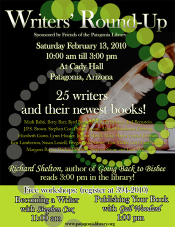 2010 Writers' Round-up in Patagonia, Arizona