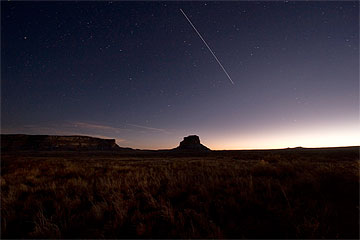 Fajada Butte at dusk. Photo by Tyler Nordgren, courtesy National Park Service.