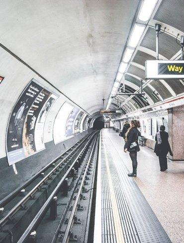 A London subway station