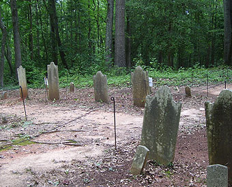 Moore family grave markers