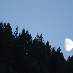 Moonrise over Mount St. Helens National Volcanic Monument