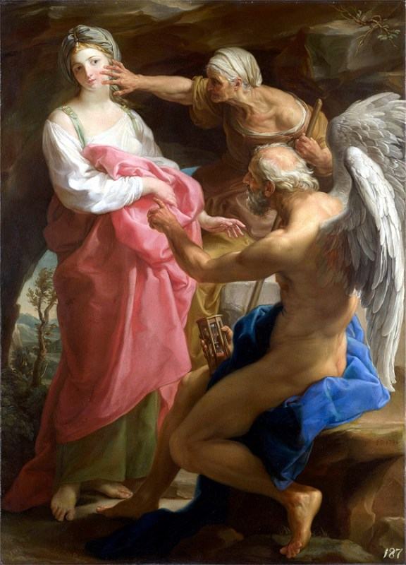 """Pompeo Batoni's """"Time Orders Old Age to Destroy Beauty"""""""
