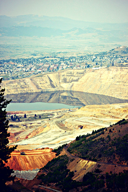 The Berkeley Pit in Butte, Montana