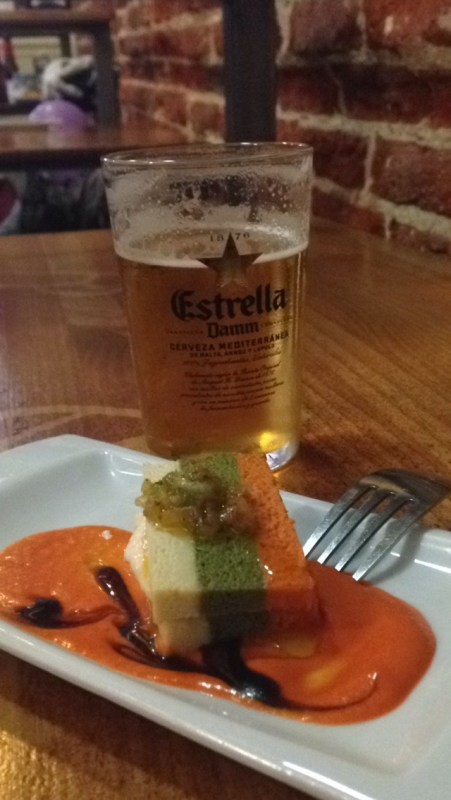 Tapa and a beer