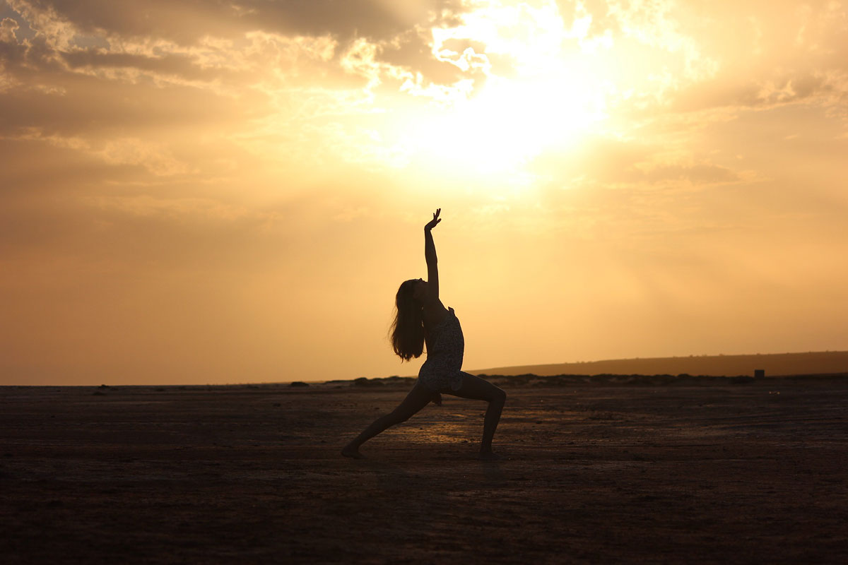Dancer at sunset