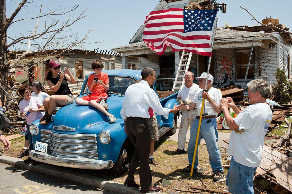 President Obama in Joplin, Missouri,