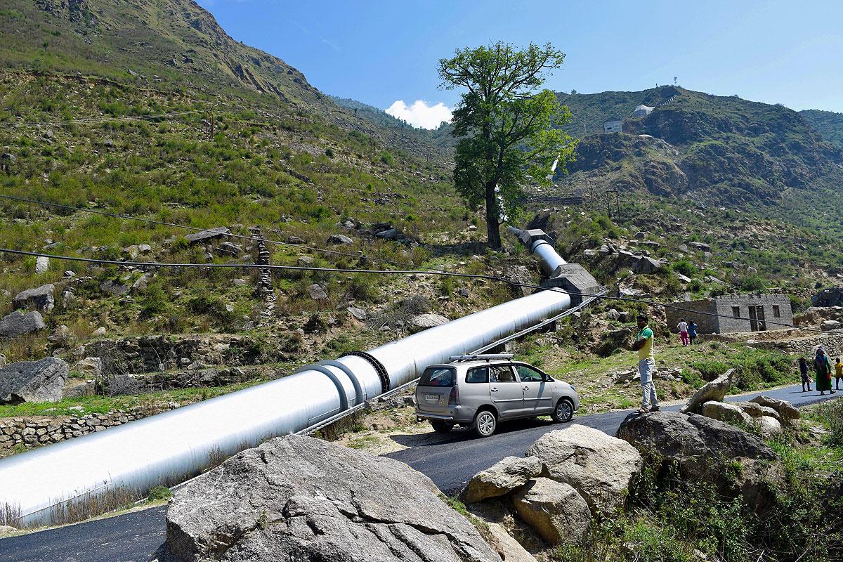Bhilangana hydrpower penstock.