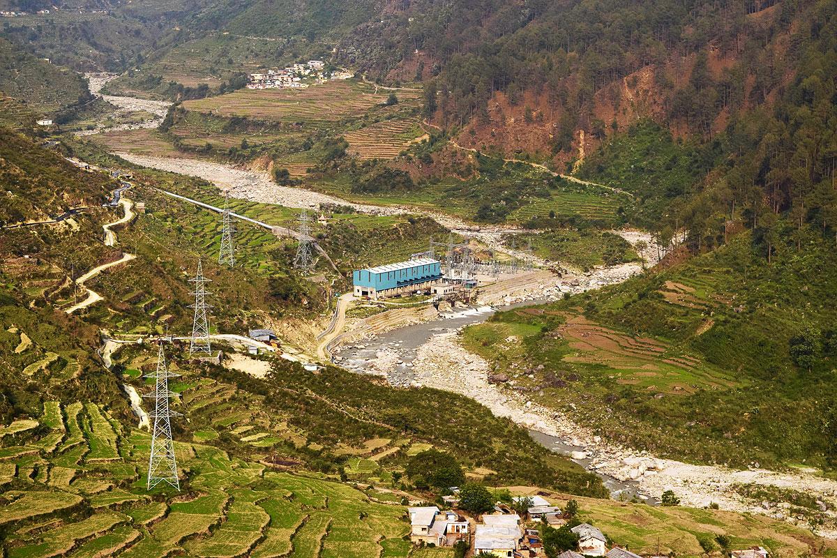 Bhilangana powerhouse.