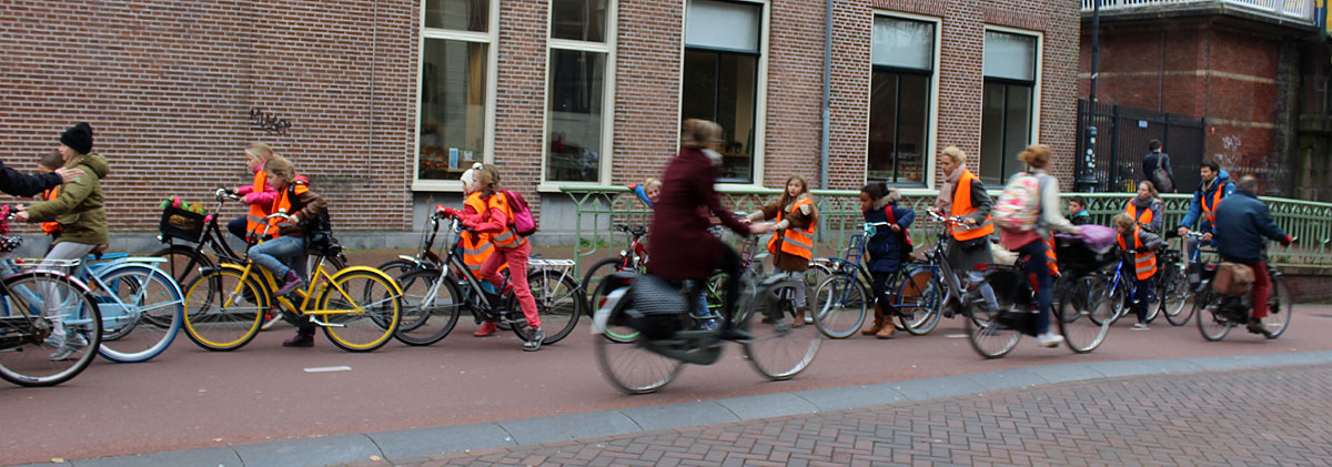 Bicycling in Haarlem