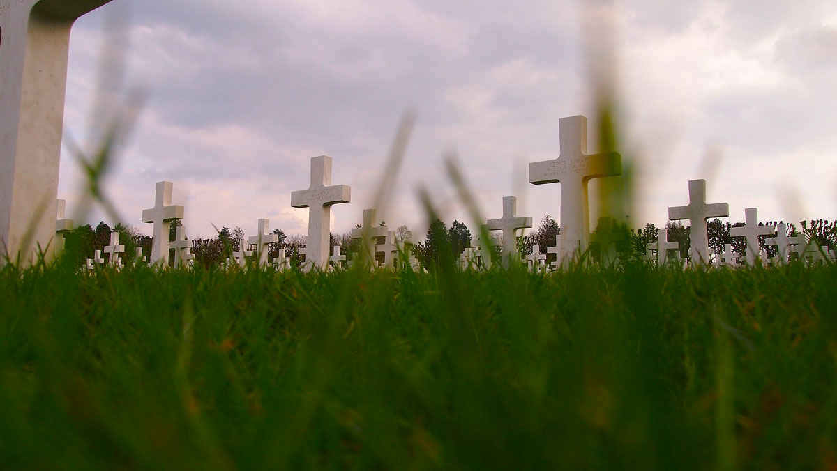 Military cemetery in France