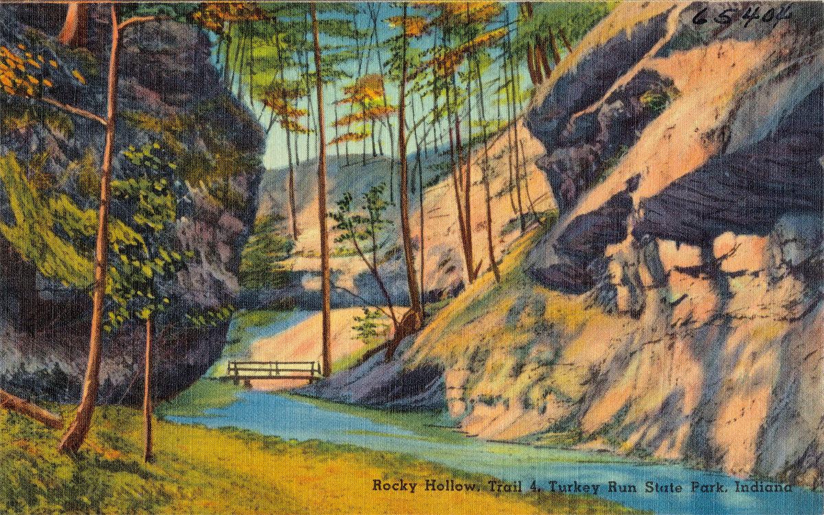 Turkey Run State Park postcard