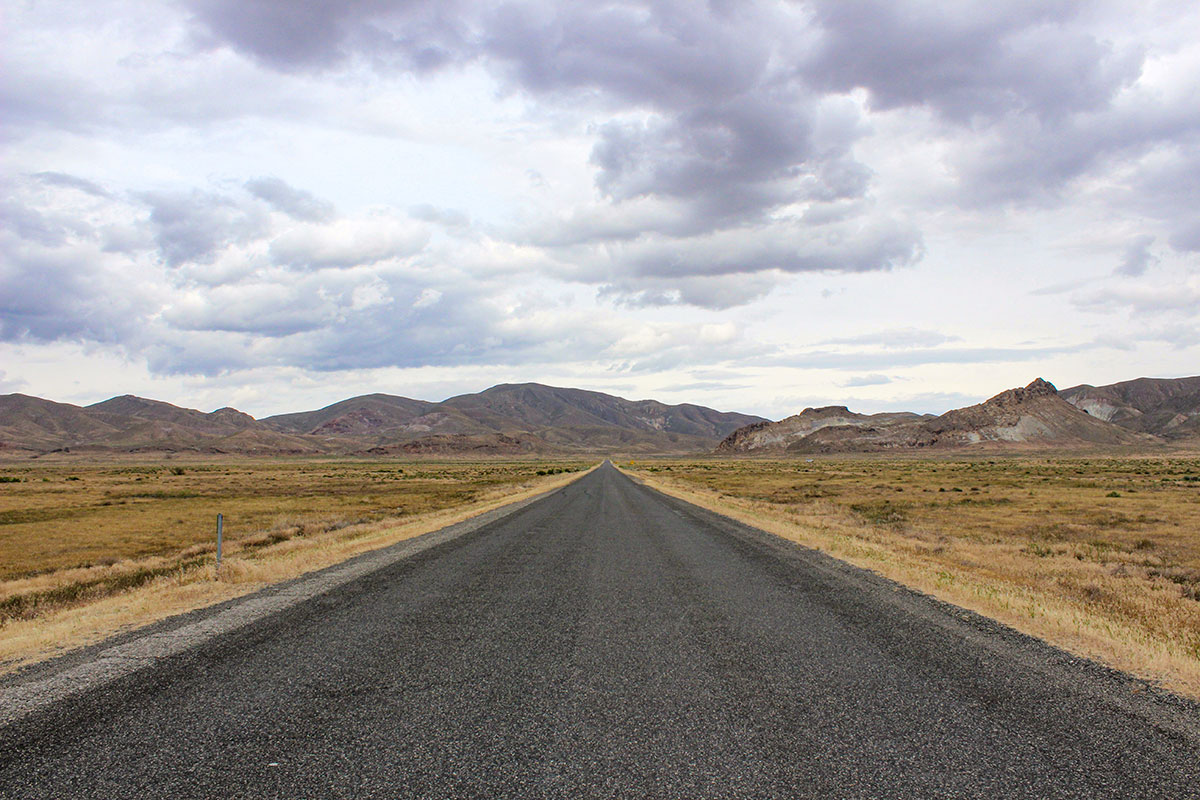 Endless road, central Great Basin Desert