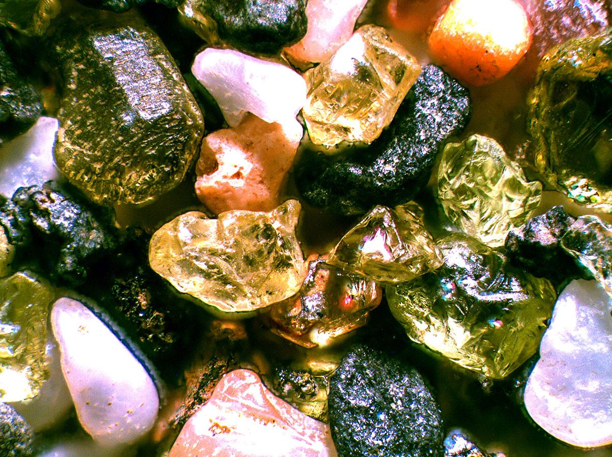 Microscopic photo of sand