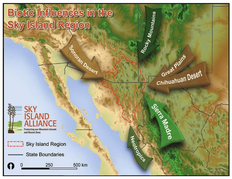 Map of Sky Island region