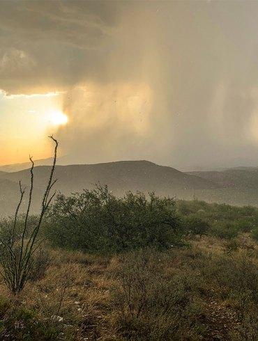 Chihuahuan Desert rainstorm