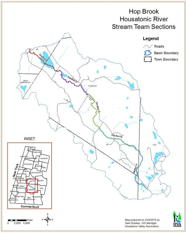 Hop Brook Housatonic River Stream Team Sections