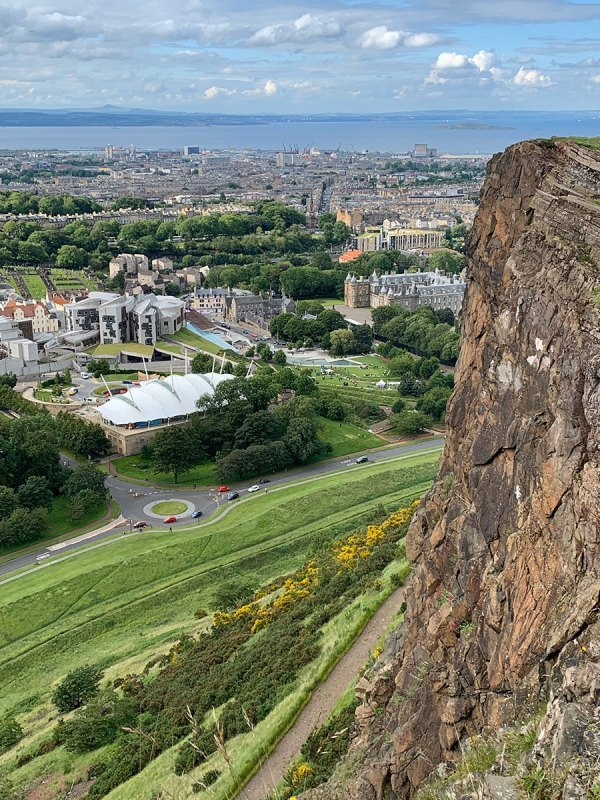 View of Edinburgh from Salisbury Crags