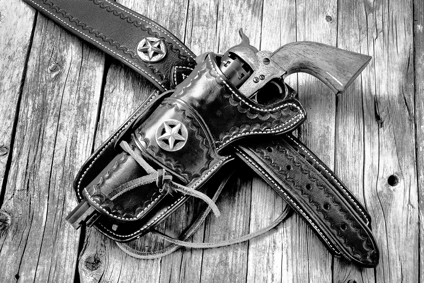 Old West revolver and holster
