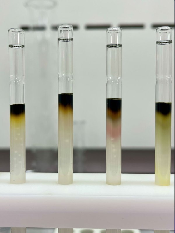 Closer view of column chromatography